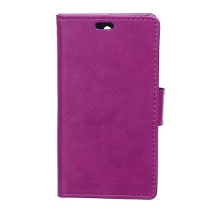 Crazy Horse Texture Wallet Leather Case for Alcatel Idol 3 (5.5) - Purple