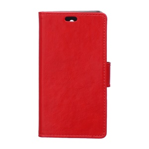 Crazy Horse Skin Wallet Leather Protective Case for Alcatel Idol 3 (4.7) - Red