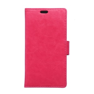 Crazy Horse PU Leather Protective Case for Alcatel One Touch PIXI 3(3.5) 4009 - Rose