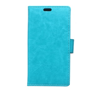 Crazy Horse PU Leather Phone Case for Alcatel One Touch PIXI 3(3.5) 4009 - Blue