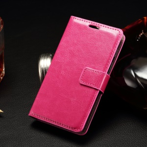 Stitching Wallet Leather Phone Case for Alcatel One Touch PIXI 3 (4) - Rose