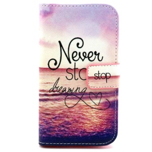 Wallet Leather Phone Case for Alcatel One Touch Pop C5 OT-5036D OT-5036X - Never Stop Dreaming