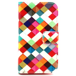 Wallet Leather Cover for Alcatel One Touch Pop C5 OT-5036D OT-5036X - Colorful Checks