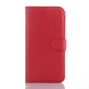 Litchi Skin Wallet Leather Protective Case for Alcatel OneTouch Idol 3 (5.5) - Red