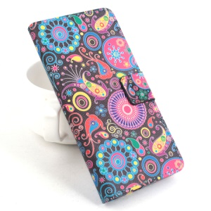 For Alcatel One Touch Idol 2 Mini 6016A 6016D Horizontal Flip Leather Cover - Paisley Flower