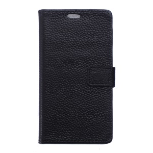 Genuine Full Grain Leather Wallet Case for Alcatel One Touch Pixi 3 4.0 4013E 4050X - Black