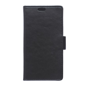 Crazy Horse Leather Wallet Case for Alcatel One Touch Pixi 3 4.0 4013E 4050X - Black
