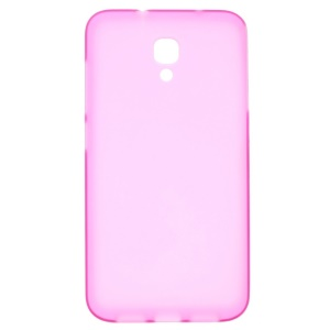 Frosted Soft TPU Gel Skin for Alcatel One Touch Idol 2 S 6050Y 6050A 6050F - Rose