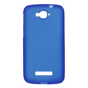 Frosted TPU Protective Shell for Alcatel One Touch Pop C7 OT-7040D 7040F - Blue