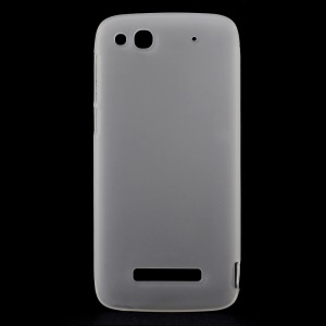 Matte TPU Gel Shell Cover for TCL S860 / Alcatel One Touch Idol Alpha 6032A 6032X - White