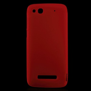 Matte TPU Back Case for TCL S860 / Alcatel One Touch Idol Alpha 6032A 6032X - Red