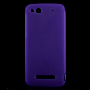 Matte TPU Shell Case for Alcatel One Touch Idol Alpha 6032A 6032X / TCL S860 - Purple