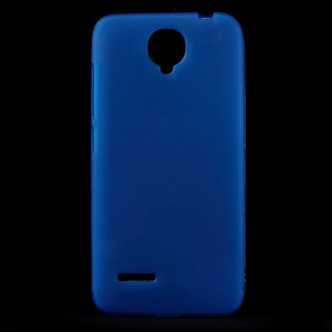 For Alcatel One Touch Idol 2 Mini L 6014D 6014X Double-sided Matte TPU Cover Case - Blue