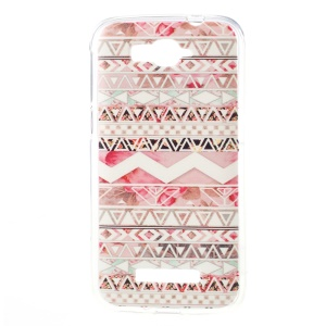 TPU Jelly Case for Alcatel One Touch Pop C7 OT-7040E 7040F 7040D - Tribal Triangles
