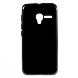 Glossy TPU Jelly Case for Alcatel One Touch Pixi 3 4.5 4027D 4028E 5017A - Black
