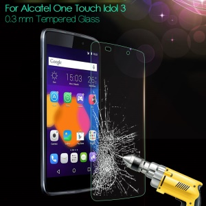 0.3mm Tempered Glass Screen Film for Alcatel One Touch Idol 3 (4.7) 6039Y Arc Edge