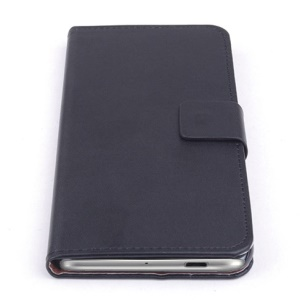 Black for ZTE Blade S6 Leather Stand Case with Card Slots