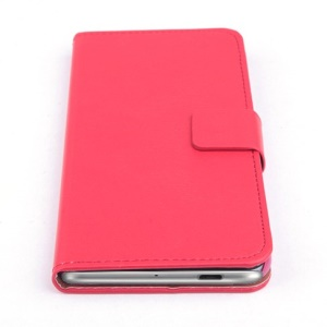 Red for ZTE Blade S6 Leather Stand Case with Card Slots