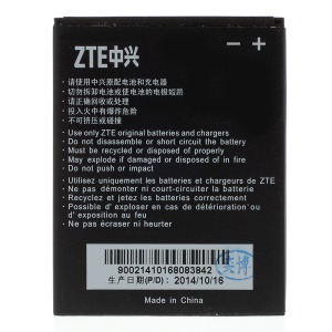 1600mAh Li-ion Battery Replacement for ZTE Grand X V970 U970