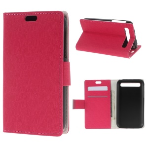 Unique Maze Pattern Wallet Leather Case for BlackBerry Classic Q20 with Stand - Rose