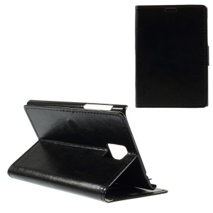 Crazy Horse Pattern Stand Leather Case for Blackberry Passport Q30 - Black