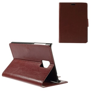 Crazy Horse Pattern Wallet Leather Cover for Blackberry Passport Q30 - Brown