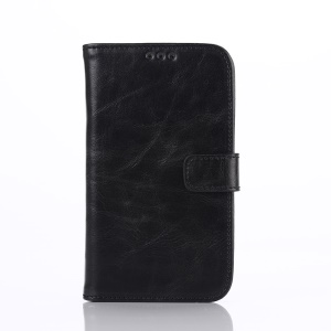 Retro Diary Style Flip Leather Wallet Cover for Blackberry Classic Q20 - Black