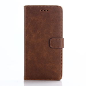 Retro Style Flip Wallet Leather Cover for BlackBerry Leap - Coffee