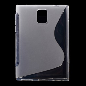 S Shape TPU Case Shell for BlackBerry Passport Q30 - Transparent