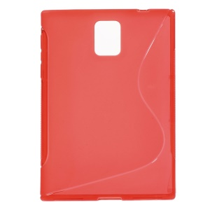 S Shape TPU Case Cover for BlackBerry Passport Q30 - Red