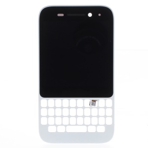 OEM LCD Screen and Digitizer Assembly with Frame for BlackBerry Q5 - White