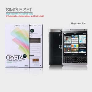 NILLKIN Anti-fingerprint Ultra-clear Screen Film for BlackBerry Passport Silver Edition