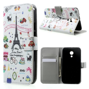 Palettes Sweet Street Leather Wallet Cover for Motorola Moto G2 G 2nd XT1063 XT1072 / Dual SIM