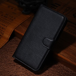 For Motorola Moto X2 XT1097 X+1 Litchi Grain Wallet Leather Stand Case - Black