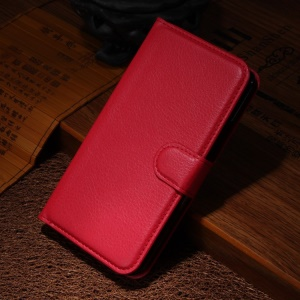 For Motorola Moto X2 XT1097 X+1 Litchi Grain Wallet Leather Stand Shell - Red