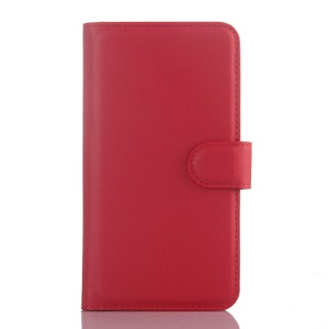 Litchi Texture Leather Wallet Cover for Motorola Moto G 3rd Gen XT1541 - Red