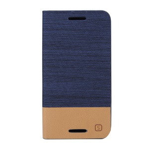 Assorted Color Linen Leather Stand Cover Case for Motorola Moto G 3rd Gen XT1541 XT1543 - Dark Blue