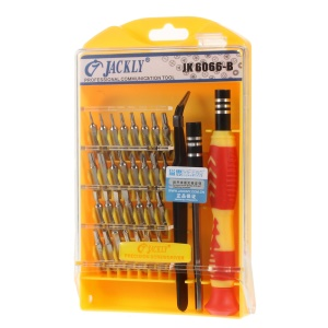 JACKLY JK6066-B 33-In-1 Precision Mini Screwdriver Tool Kit for Mobile Phone Laptop