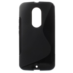 S-Curve Soft TPU Gel Case for Motorola Moto X2 XT1097 - Black