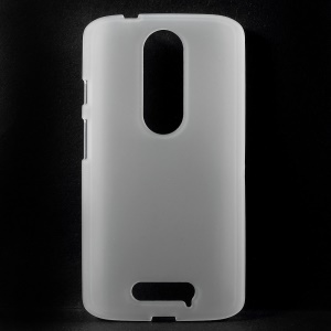 For Motorola Moto X Force X3 Matte TPU Gel Phone Cover - Transparent