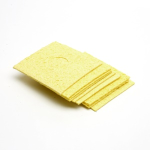 One Piece Soldering Iron Tip Welding Cleaning Sponge 6x6cm - Yellow