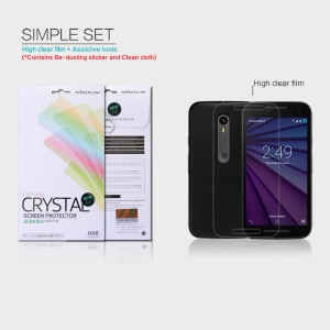 NILLKIN Anti-fingerprint Ultra-clear Screen Film for Motorola Moto G 3rd Gen XT1541 XT1543