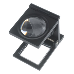 Pocket Foldable Magnifier with Scale and LED for Jewel Identification