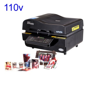 Sublimation 3D Vacuum Heat Press Machine d'impression pour téléphone portable / Agresser - Noir / 110V