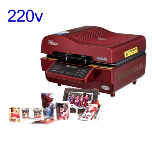 Sublimation 3D Vacuum Heat Press Printing Machine for Mobile Phone Case / Mug - Red / 220V
