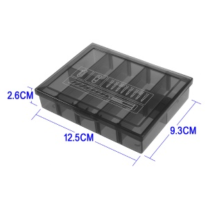 Detachable Plastic Repair Parts Tool Storage Box Case with 10 Compartments