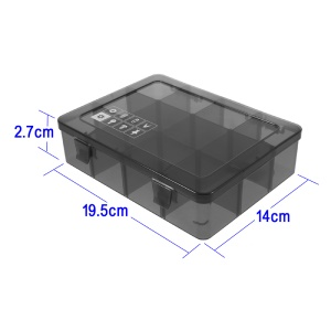 Detachable Plastic Tool Components Storage Box with 18 Compartments