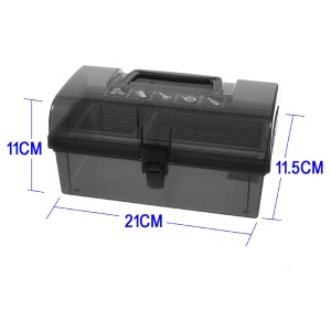 TCM-7732 Double-layered Practical PP Tool Storage Box, Size: 210 x 110 x 115mm