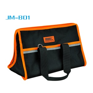 JAKEMY JM-B01 Large Professional Tool Storage Bag, Size: 355 x 230 x 230mm - Black / Orange