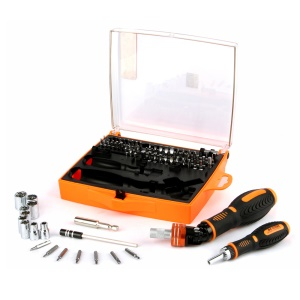 JAKEMY 79-in-1 Speedy Labor-saving Ratchet Tool Set with 1/4 Socket Connector (JM-6108)